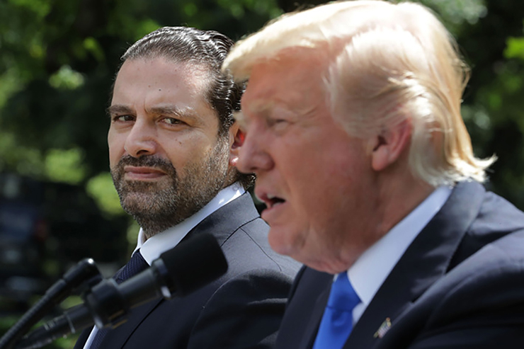 Saad Al-Hariri with President Trump