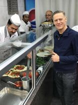 Bryan Adams eating Falafel in Beirut