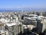 Looking North up the coast of Lebanon from a high rise in Achrafieh
