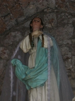 Statue in the Ste-Hissen old chapel