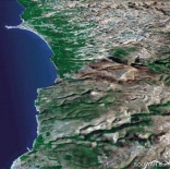 South of Lebanon from the sky