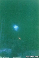 Glowing cross near Halba