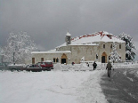 Saint Charbel Monastery in Winter
