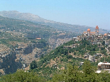 View of the village of Bsharri, from Kahlil Gibran's tomb
