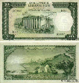 Ten Lebanese Pounds 1956