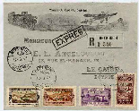 PostCard Lebanon to Egypt 1925