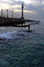 Fishermen at the Beirut Marina