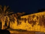 Byblos Fortress Wall In The Night
