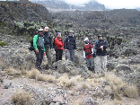 Hiking To Kilimanjaro, Tanzania Sept 2008- At the top of the Karanga wall