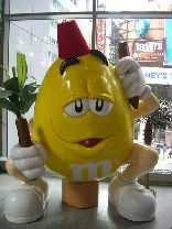 Giant M&M with Tarbouche - Times Square M&M store NYC