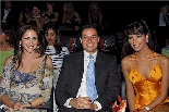 Miss Lebanon 2004 Nadine with Marie-Josee and Shadi